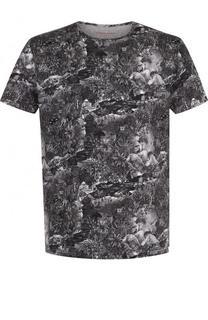 Хлопковая футболка с принтом Derek Rose