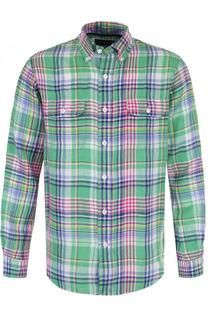 Льняная рубашка в клетку Polo Ralph Lauren