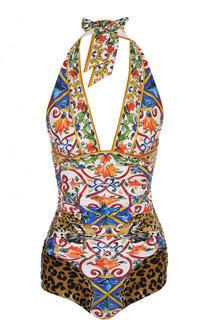 Слитный купальник с принтом Dolce & Gabbana