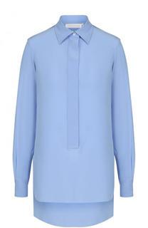 Однотонная шелковая блуза Victoria Beckham