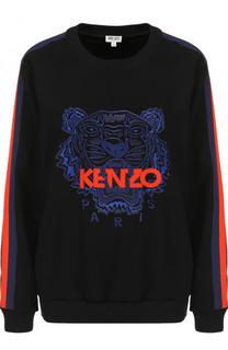 Свитшот с логотипом бренда с круглым вырезом Kenzo