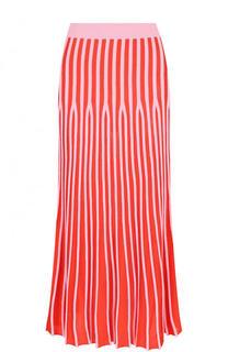 Вязаная плиссированная юбка-миди Kenzo