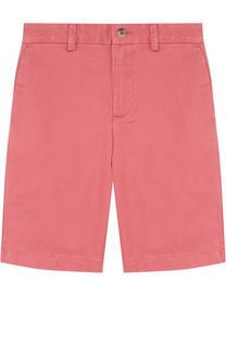 Хлопковые шорты прямого кроя Polo Ralph Lauren