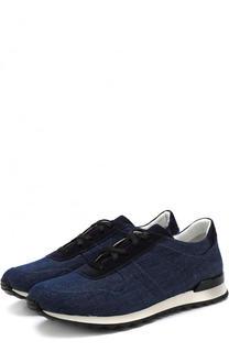 Текстильные кроссовки на шнуровке Kiton