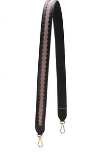 Замшевый ремень для сумки с кожаной отделкой Coccinelle