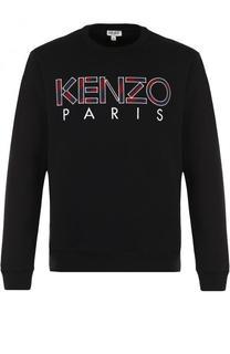 Хлопковый свитшот с логотипом бренда Kenzo