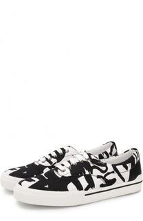 Текстильные кеды на шнуровке Versace