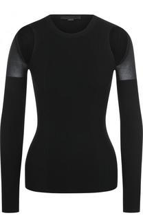 Пуловер фактурной вязки с разрезами на плечах Alexander Wang