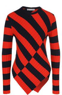 Пуловер фактурной вязки в контрастную полоску Altuzarra