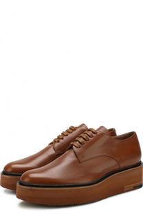 Кожаные ботинки на массивной подошве Dries Van Noten