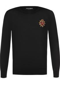 Кашемировый джемпер с вышивкой Dolce & Gabbana