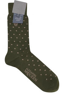 Хлопковые носки с узором Polka Dot Alexander McQueen