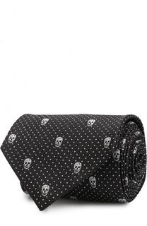 Шелковый галстук Alexander McQueen