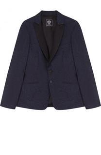 Однобортный пиджак из хлопка и шерсти Dal Lago