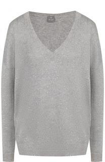Кашемировый пуловер с V-образным вырезом FTC