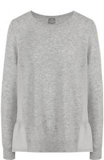 Однотонный кашемировый пуловер с круглым вырезом FTC