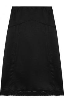 Однотонная юбка-миди с кружевной отделкой MCQ