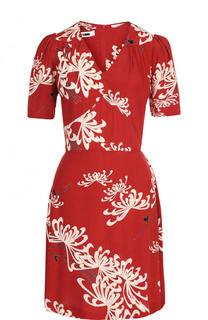 Приталенное мини-платье с цветочным принтом MCQ