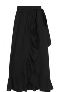 Однотонная льняная юбка с поясом Isabel Marant Etoile