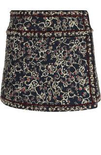 Стеганая мини-юбка из смеси хлопка и льна Isabel Marant Etoile