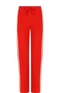 Укороченные брюки прямого кроя с контрастными лампасами Isabel Marant Etoile