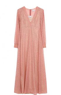 Приталенное платье-миди с V-образным вырезом REDVALENTINO