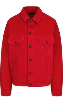 Однотонная джинсовая куртка свободного кроя Valentino