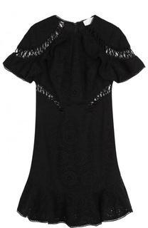 Хлопковое кружевное мини-платье Zimmermann