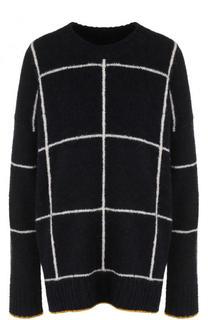 Вязаный пуловер свободного кроя с круглым вырезом Elizabeth and James
