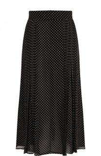 Шелковая юбка-миди в горох Burberry