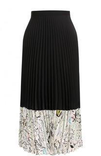 Шелковая плиссированная юбка-миди Maison Margiela