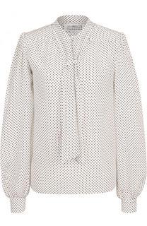 Шелковая блуза в горох с воротником аскот Maison Margiela