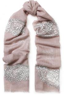 Кашемировый шарф с кружевными вставками Vintage Shades