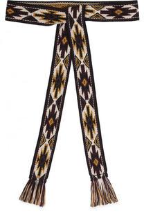 Текстильный пояс с вышивкой и кисточками Isabel Marant Etoile