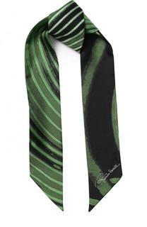 Шелковый шарф-бандо с принтом Roberto Cavalli