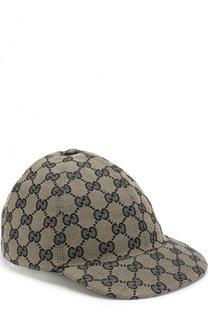 Бейсболка с логотипом бренда Gucci