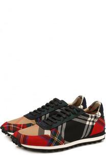 Текстильные кроссовки на шнуровке Burberry