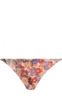 Плавки-бикини с цветочным принтом Zimmermann