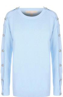 Вязаный пуловер прямого кроя с круглым вырезом MICHAEL Michael Kors