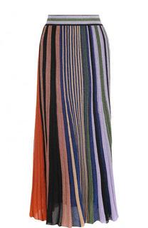 Вязаная плиссированная юбка-миди Missoni