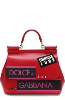 Сумка Sicily medium с аппликациями Dolce & Gabbana