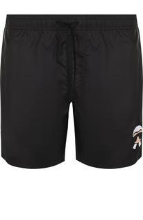 Плавки-шорты с аппликацией Fendi