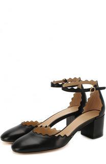 Кожаные туфли Lauren с ремешком на щиколотке Chloé