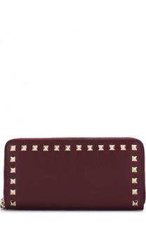 Кожаный кошелек Rockstud на молнии Valentino