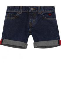 Джинсовые мини-шорты с отворотами Gucci
