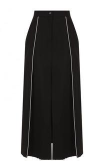 Хлопковая юбка-миди с высоким разрезом Walk of Shame