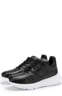 Кожаные кроссовки на толстой подошве Alexander McQueen