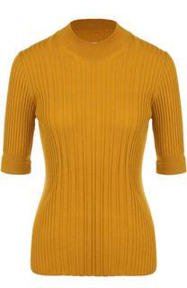 Приталенный шерстяной пуловер с укороченным рукавом Maison Margiela