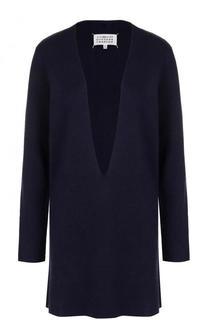 Удлиненный пуловер с глубоким V-образным вырезом Maison Margiela