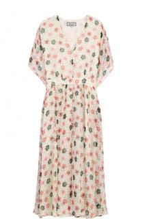 Приталенное шелковое платье с цветочным принтом Paul&Joe Paul&Joe